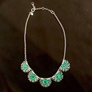 J. Crew Emerald Stone & Crystal Statement Necklace
